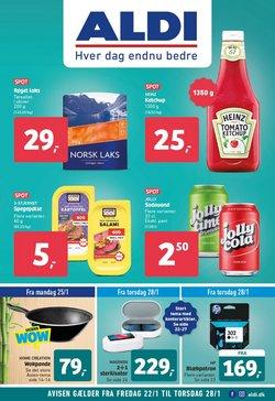 Dagligvarer tilbud i ALDI kataloget i Vejle ( Udløber i dag )