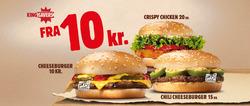 Restauranter tilbud i Burger King kataloget i Kolding