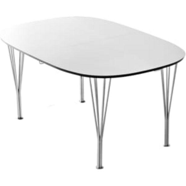 Living&more spisebord - Lotus - Hvid på tilbud til 2499 kr.
