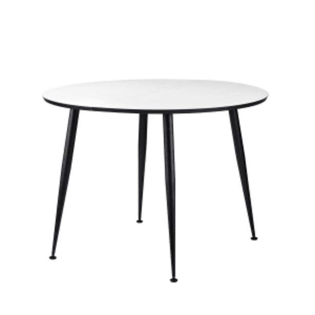 Living&more spisebord - Corona - Hvid/sort på tilbud til 1699 kr.