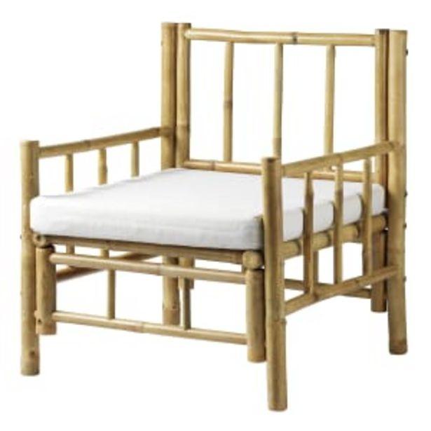 Living&more lænestol i bambus - Danang på tilbud til 899 kr.