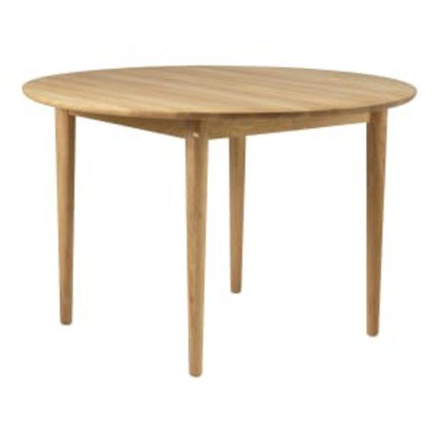 Unit10 spisebord - C62 Bjørk - Eg på tilbud til 8999 kr.