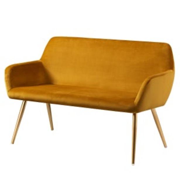 Living&more sofa - Emma - Mustard på tilbud til 1299 kr.