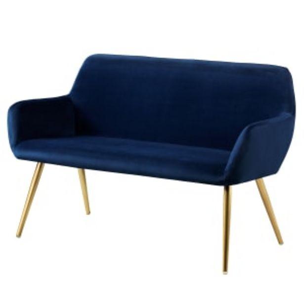 Living&more sofa - Emma - Mørkeblå på tilbud til 1299 kr.