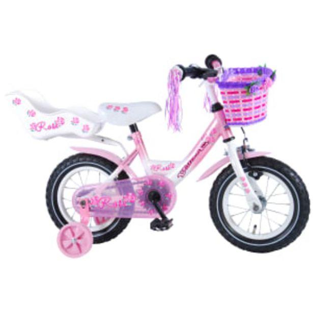 """Volare Rose 12"""" pigecykel - Hvid/pink på tilbud til 999 kr."""