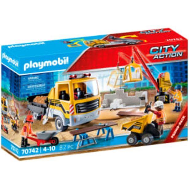 Playmobil byggeplads med tipvogn på tilbud til 263,95 kr.