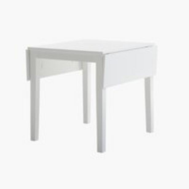 Spisebord NORDBY 80x70/120 hvid på tilbud til 1499 kr.
