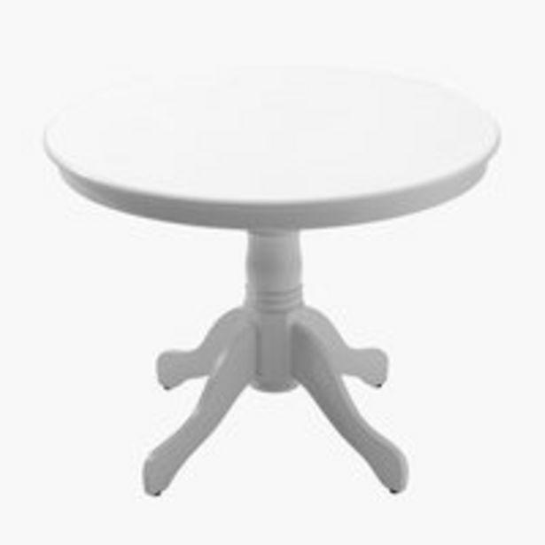 Spisebord ASKEBY Ø100 hvid på tilbud til 1199 kr.