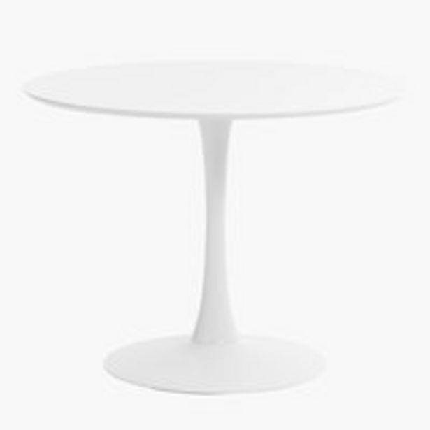 Spisebord RINGSTED Ø100 hvid på tilbud til 1499 kr.