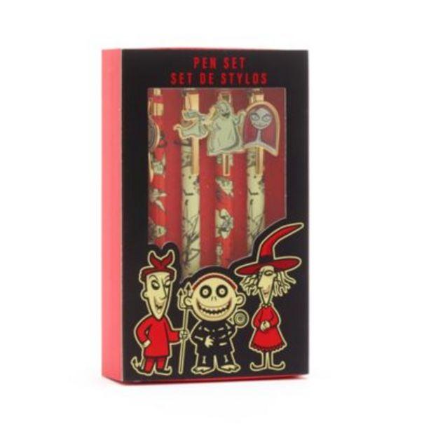 Disney Store The Nightmare Before Christmas Pens, Set of 4 på tilbud til 16 kr.