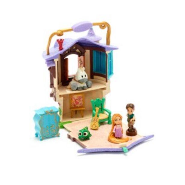 Disney Store Rapunzel Tower Playset, Disney Animators' Collection Littles på tilbud til 17 kr.