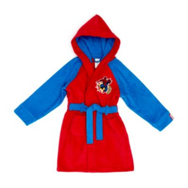 Disney Store Spider-Man Bath Robe For Kids på tilbud til 30 kr.