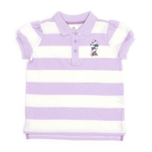 Disney Store Minnie Mouse Block Stripe Polo Shirt For Toddlers & Kids på tilbud til 8 kr.