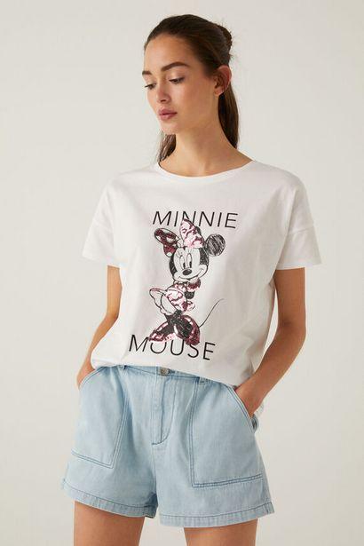 Organic cotton Minnie Mouse sequins T-shirt på tilbud til 11,99 kr.