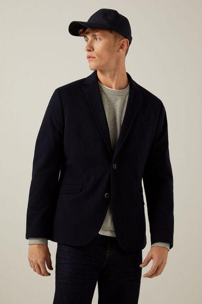 Blue piqué blazer på tilbud til 59,99 kr.