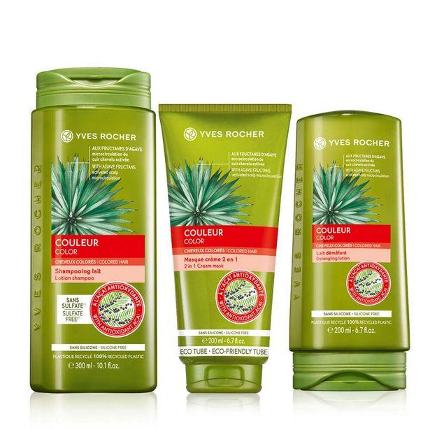Sæt - Til farvet hår, shampoo, balsam, hårkur på tilbud til 179 kr.