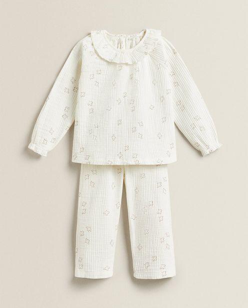 Pyjamas I Bomuldsmuselin Med Fuglemotiv på tilbud til 229 kr.