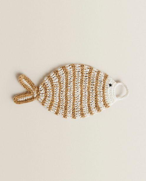 Hæklet Body Scrub Med Form Som En Fisk på tilbud til 89 kr.