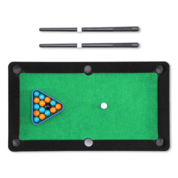 Tabletop pool game på tilbud til 5 kr.